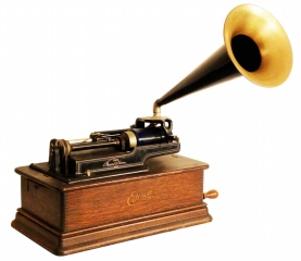 edison-phonograph-with-horn