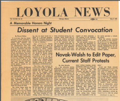 Dissent at Student Convocation