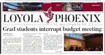 grad students interrupt budget meeting