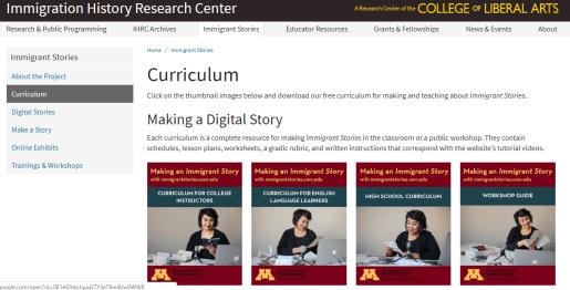 Access to IHRC's curriculum